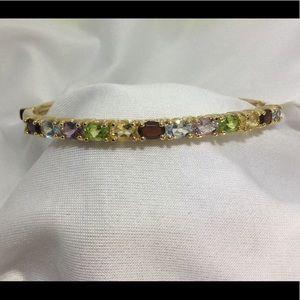 NWT Gemstones 925 Sterling silver bangle bracelet